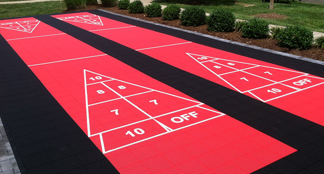 VersaCourt outdoor shuffleboard courts